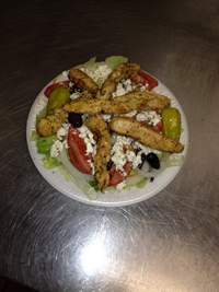 Greek Salad and Chicken